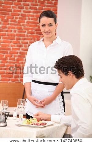 waitress awaiting table stock photo © photography33