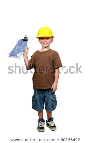 Little boy dressed as foreman Stock photo © photography33