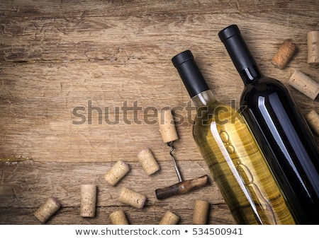 Cork bottle wine and grapes Stock photo © inaquim