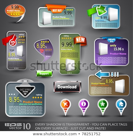 Collection of web elements - Various templates foto stock © DavidArts