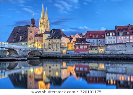 Regensburg embankment Stock photo © joyr