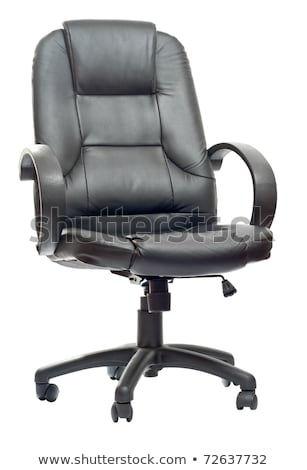 The office chair from black imitation leather Stock photo © vlad_star