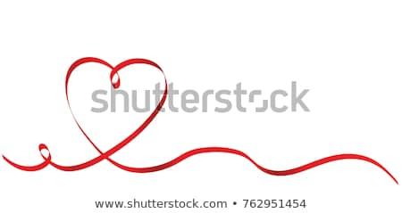 serca · dar · tag · papieru · tle · biały - zdjęcia stock © cammep