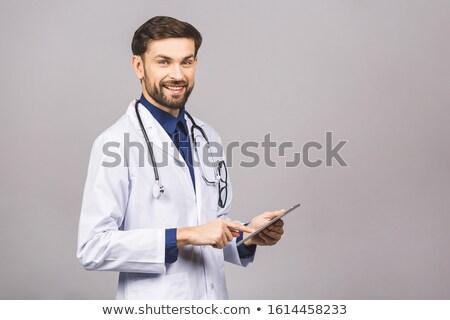 Doktor beyaz dokunmatik ekran bilgisayar tıbbi sağlık Stok fotoğraf © wavebreak_media