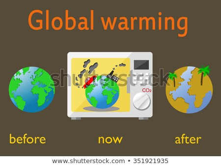 global warming - earth in microwave Stock photo © Mikko