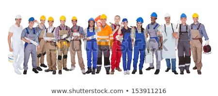 Female electrician holding spanner Stock photo © photography33