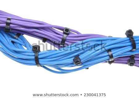 colorido · rede · cabos · isolado · branco · textura - foto stock © arezzoni