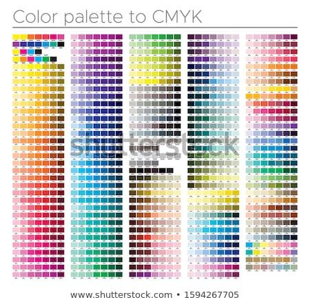 Dört renk baskı referans baskı renk Stok fotoğraf © Stocksnapper