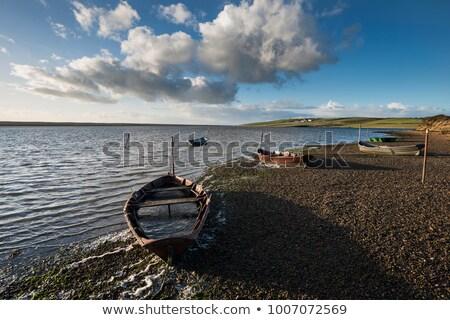 лодках флот пляж закат морем лет Сток-фото © flotsom