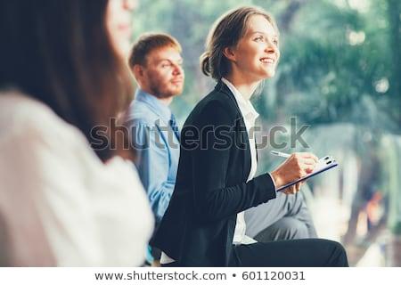 üzleti · csapat · jegyzetel · konferencia · iroda · üzlet · üveg - stock fotó © wavebreak_media