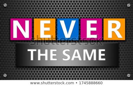 Nunca palabras pizarra negocios escuela resumen Foto stock © Ansonstock
