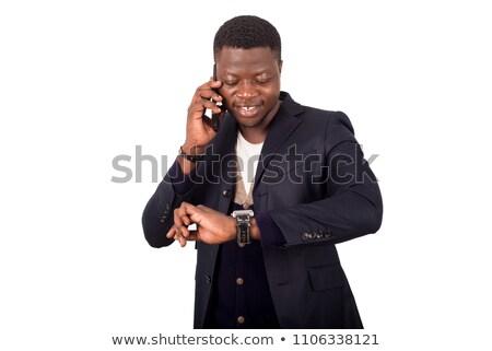 portré · jóképű · komoly · fiatal · üzletember · áll - stock fotó © HASLOO