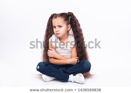 надутый · девочку · Cute · молодые · молодежи · Постоянный - Сток-фото © Talanis