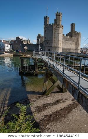 замок города назад падение север Уэльс Сток-фото © ollietaylorphotograp