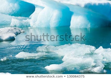 jéghegy · szép · tükröződés · híres · vmi · mellett · város - stock fotó © Imagix