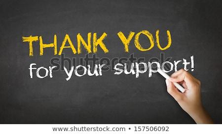 ありがとう サポート チョーク 実例 人 図面 ストックフォト © kbuntu