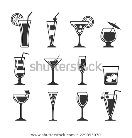 drink with lime and mint in a champagne glass stock photo © zerbor