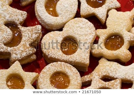 Karácsony sütik lekvár köteg pergamen papír Stock fotó © Rob_Stark