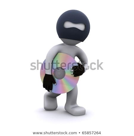 3D · wenig · Menschen · Dieb · Maske · Hände - stock foto © kirill_m