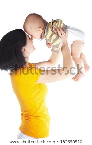 Fiatal anya kisgyerek portré boldog fekete Stock fotó © vkraskouski