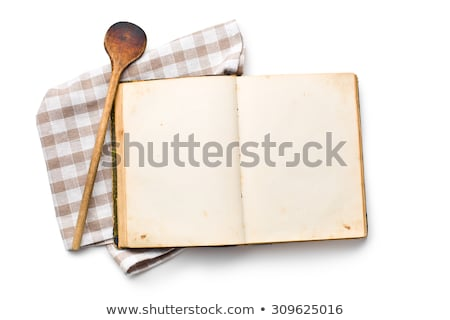 recipe book with old kitchenware Stock photo © jirkaejc