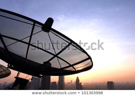 Satellite Dish Over Sunny Sky Stok fotoğraf © vichie81