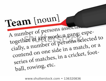 EPS 10 Vector of dictionary term of team word  Stock photo © Istanbul2009