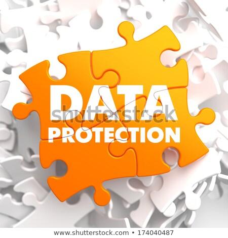 Data Protection on Orange Puzzle. Stock photo © tashatuvango