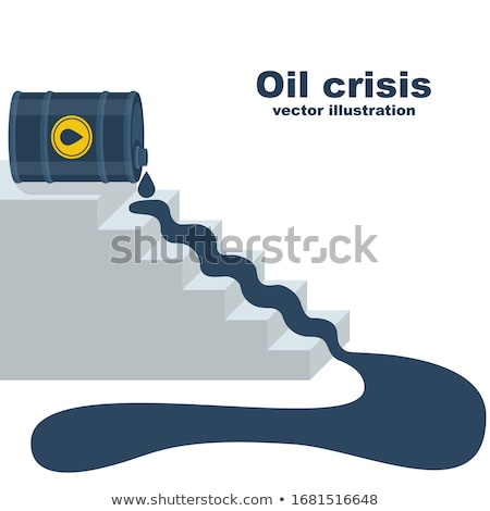 business graph steps falling graph illustration design over whit stock photo © alexmillos