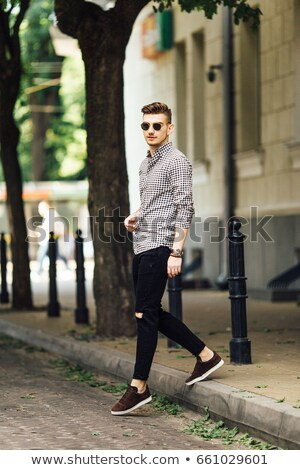 Handsome young man in casual suite. Stock photo © Nejron