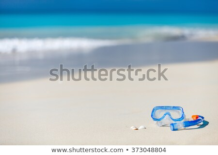 diving mask in the sand of a beach Stock photo © nito