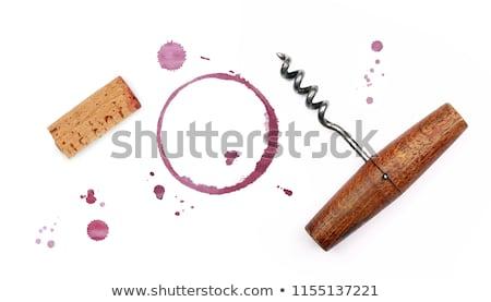 Cork and corkscrew Stock photo © karandaev