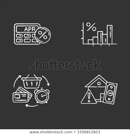 Hand revolver percentages business winkelen dienst Stockfoto © Ustofre9