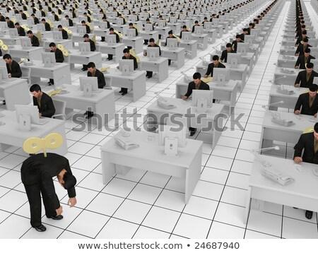オフィス スレーブ 孤立した 女性実業家 ストックフォト © dgilder