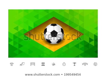 futebol · infográficos · futebol · realista · 3D · estilo - foto stock © m_pavlov