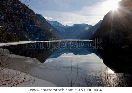 Sun Lake Koenigssee Stock photo © w20er