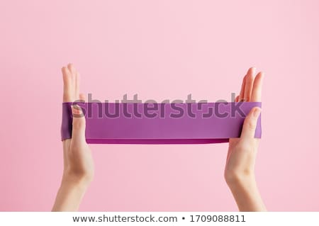 Renkli elastik kauçuk moda kırmızı renk Stok fotoğraf © grafvision