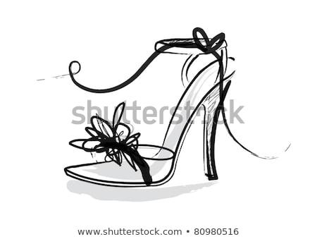 red and white high heels Stock photo © flipfine