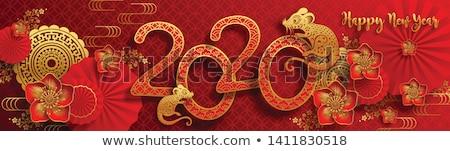 Китайский · Новый · год · традиционный · украшения · слива · Blossom · белый - Сток-фото © dezign56