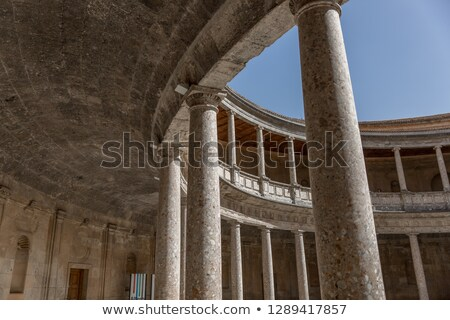 alhambra palace carolos 5th granada andalusia spain stock photo © billperry