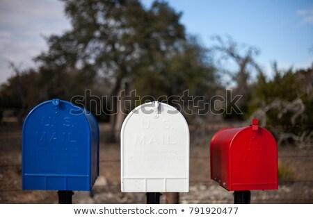 старые устаревший пост почтовый ящик кирпичная стена домой Сток-фото © stevanovicigor