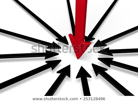Bold Red Arrow Surrounded By Black Arrows Stock photo © 3mc
