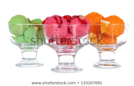 different tastes ice cream in a glass stock photo © aliaksandra