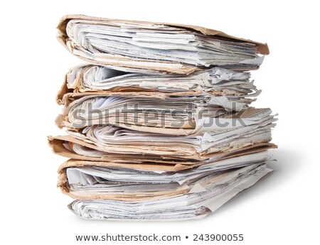 Files Arranged In Chaotic Stack Rotated Stock photo © Cipariss