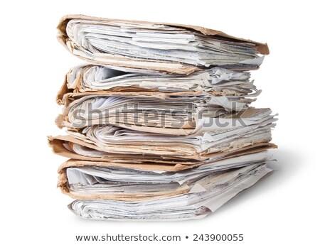 файла хаотический изолированный белый служба Сток-фото © Cipariss