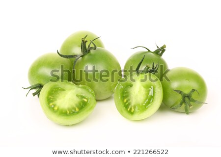 Tomatoes and green lettuce Stock photo © zia_shusha