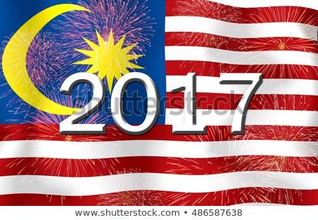Bandiera brucia Malaysia guerra crisi fuoco Foto d'archivio © michaklootwijk