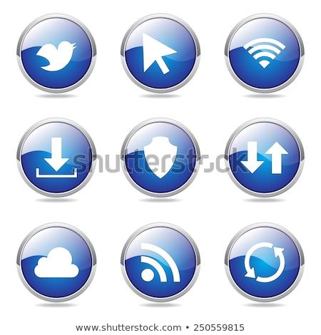 düşünmek · web · Internet · kırmızı · vektör · düğme - stok fotoğraf © rizwanali3d