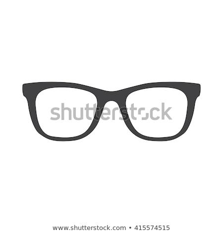 Glasses icon on gray background stock photo © aliaksandra