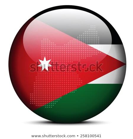 флаг · Иордания · черно · белые · зеленый · горизонтальный - Сток-фото © istanbul2009